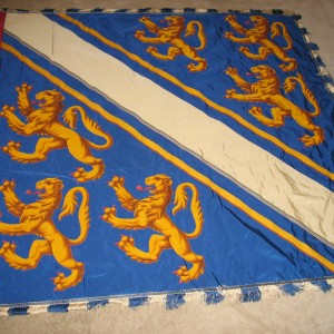 Garter banner of William de Bohun, Earl of Northampton, or his grandson Humphrey de Bohun, Earl of Hereford