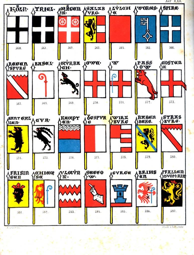 Facsimile of the Wappenrolle