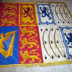 Garter banner of Queen Elizabeth Bowes-Lyon (consort of King George VI of the United Kingdom)